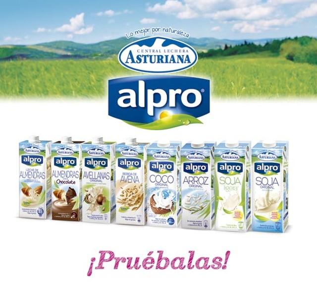 Leches vegetales de la línea Alpro Central Lechera Asturiana - Productos veganos