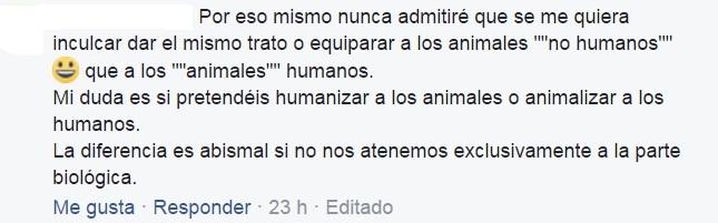 Los veganos animalizan a los humanos 1