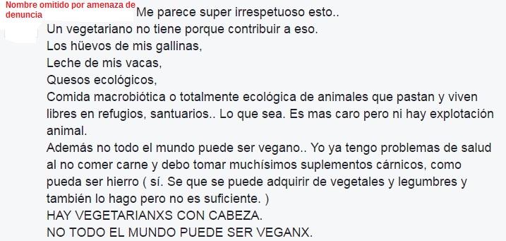 Vegetariana-hipócrita-máxima (nombre omitido)