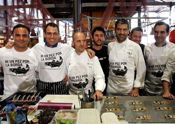 Iniciativa Ni un pez por la borda con figuras del mundo gastronómico